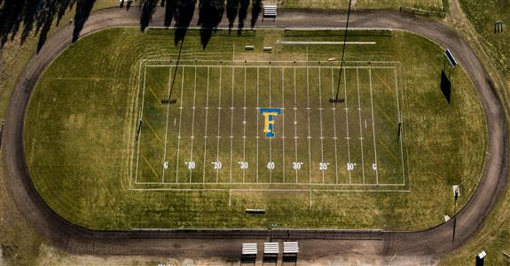 Football Field - Aerial View