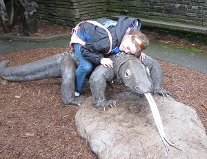 Hannah and Komodo
